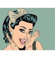 Pop Art of girl vector image vector image