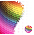 rainbow multicolored frame vector image vector image