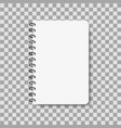 realistic notebook in mockup style blank notepad vector image vector image