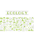recycling ecological concept recycling ecological vector image vector image