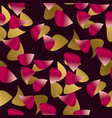 red petal seamless pattern on black background vector image