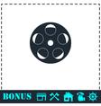 Reel film icon flat vector image vector image