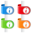 Ribbons with information symbol vector image vector image