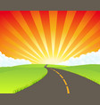 road to paradise vector image vector image