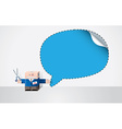 Robot with cut out speech bubble vector image vector image