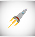 rocket aircraft on white background vector image