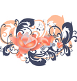 roses leaves horizontal flowers with branches vector image vector image