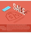 sale card business background concept desig vector image vector image
