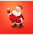 Santa Claus character with wineglass vector image vector image
