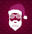 santa claus with glasses shutter shades vector image vector image