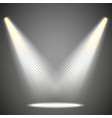 scene illumination from above transparent effects vector image vector image