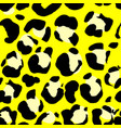 seamless black and yellow leopard pattern animal vector image vector image