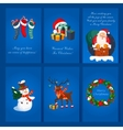 Set of Christmas and New Year greeting cards vector image vector image