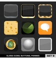 Set Of Colorful App Icon Frames Templates Buttons vector image vector image