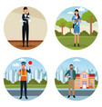 set of jobs and occupation vector image