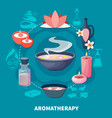 spa aromatherapy fragrances flat poster vector image vector image