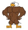 Strong eagle posing