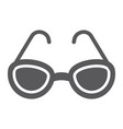 sunglasses glyph icon glasses and fashion vector image vector image