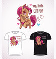 sweet pony princess little cute cartoon horse vector image