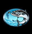 tarpon fishing shirt design vector image vector image