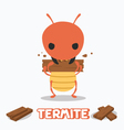 termite eating wood vector image