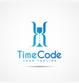 time code logo vector image