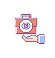 transparent rgb color icon vector image vector image