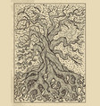 tree mystic concept for lenormand oracle tarot vector image vector image