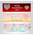 Valentine banners set vector image vector image