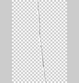 vertical sheet transparent paper teared vector image vector image