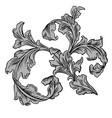 vintage classic victorian ornament pattern vector image vector image