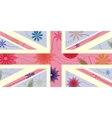Vintage UK flag vector image