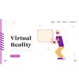 virtual reality simulation hobby website landing vector image