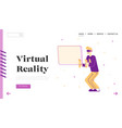 virtual reality simulation hobwebsite landing vector image