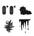 weather and climate symbol vector image vector image