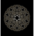 White ornament on a black background vector image