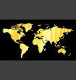 world map abstract pattern with yellow squares vector image vector image