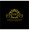 yw letter initial luxurious brand logo template vector image vector image