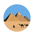 Egypt pyramid icon vector image