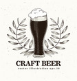 craft beer bannner or logo template vector image