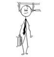 conceptual cartoon of businessman under pressure vector image