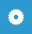 industrial saw icon white on the blue background vector image