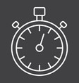 stopwatch line icon fitness and sport vector image