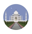 Taj Mahal palace icon vector image