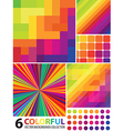 6 abstract colorful backgrounds vector image