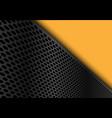 abstract dark gray circle mesh triangle yellow vector image vector image