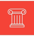 Ancient column line icon vector image vector image