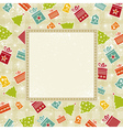 beige christmas background vector image vector image