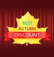 best autumn discount seasonal fall sale vector image