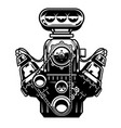 big muscle car engine vector image